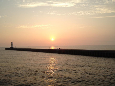 Sunset over the North Pier